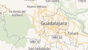 Guadalajara - szczegółowa mapa Google