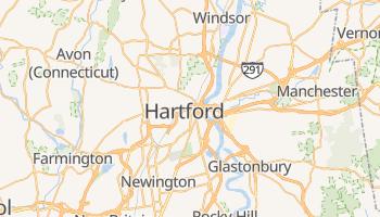 Hartford - szczegółowa mapa Google