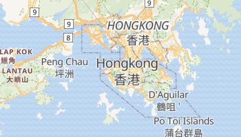 Hongkong - szczegółowa mapa Google