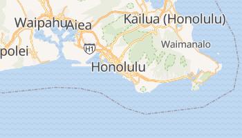 Honolulu - szczegółowa mapa Google