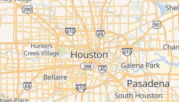Houston - szczegółowa mapa Google