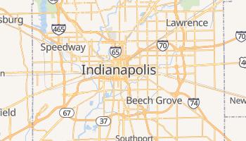 Indianapolis - szczegółowa mapa Google