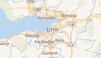 Izmir - szczegółowa mapa Google