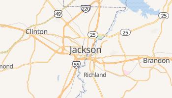 Jackson - szczegółowa mapa Google