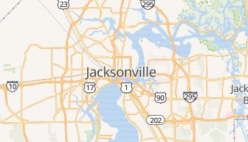 Jacksonville - szczegółowa mapa Google