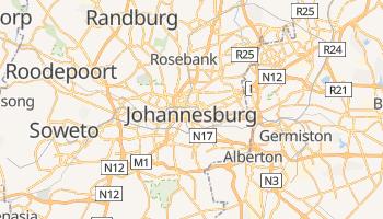 Johannesburg - szczegółowa mapa Google