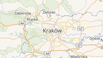 Kraków - szczegółowa mapa Google