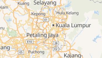Kuala Lumpur - szczegółowa mapa Google