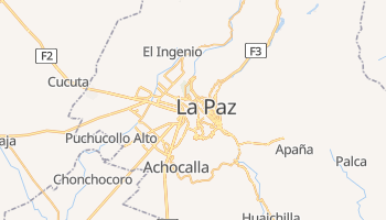 La Paz - szczegółowa mapa Google
