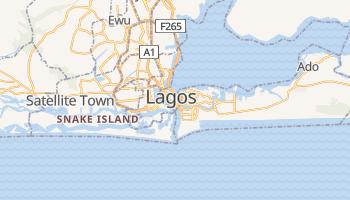 Lagos - szczegółowa mapa Google