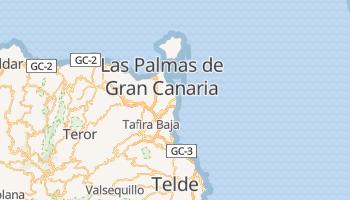 Las Palmas de Gran Canaria - szczegółowa mapa Google
