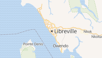 Libreville - szczegółowa mapa Google