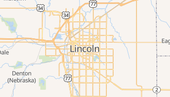 Lincoln - szczegółowa mapa Google