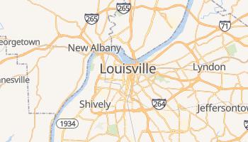 Louisville - szczegółowa mapa Google