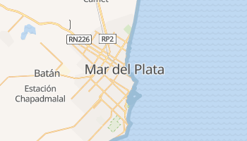 Mar del Plata - szczegółowa mapa Google
