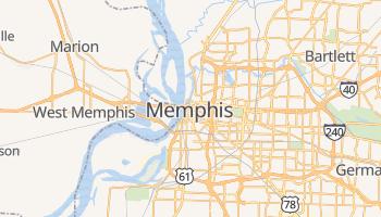 Memphis - szczegółowa mapa Google
