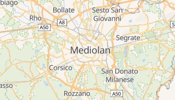 Mediolan - szczegółowa mapa Google
