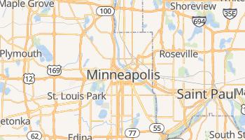 Minneapolis - szczegółowa mapa Google