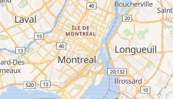 Montreal - szczegółowa mapa Google