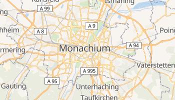 Monachium - szczegółowa mapa Google