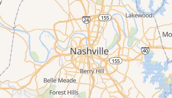 Nashville - szczegółowa mapa Google