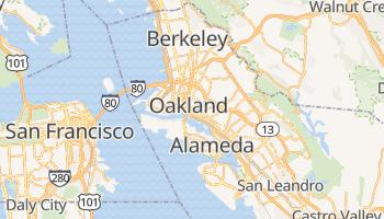 Oakland - szczegółowa mapa Google