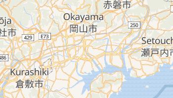 Okayama - szczegółowa mapa Google