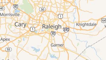 Raleigh - szczegółowa mapa Google