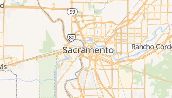Sacramento - szczegółowa mapa Google