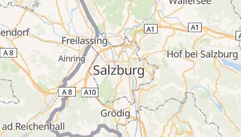 Salzburg - szczegółowa mapa Google