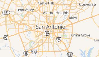 San Antonio - szczegółowa mapa Google
