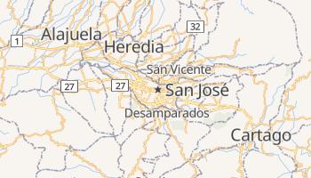 San José (CR) - szczegółowa mapa Google