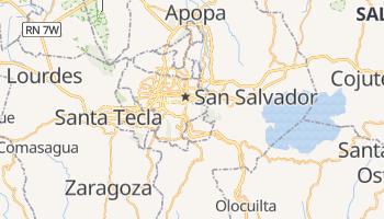 San Salwador - szczegółowa mapa Google
