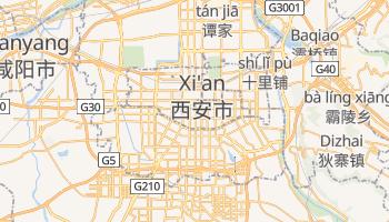 Xi'an - szczegółowa mapa Google