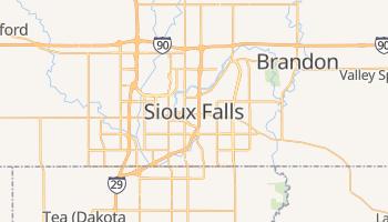 Sioux Falls - szczegółowa mapa Google