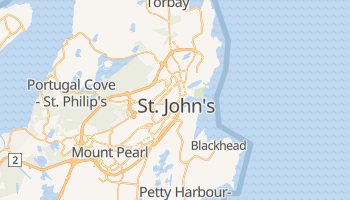 St. John's (CA - NF) - szczegółowa mapa Google
