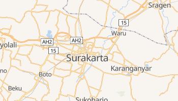 Surakarta - szczegółowa mapa Google