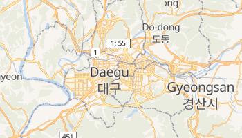 Taegu - szczegółowa mapa Google