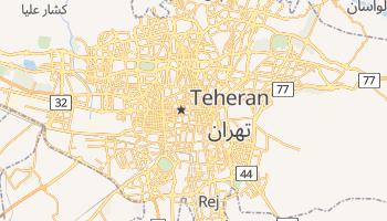 Teheran - szczegółowa mapa Google