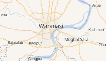 Waranasi - szczegółowa mapa Google