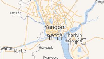Rangun - szczegółowa mapa Google