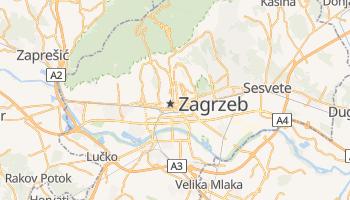 Zagrzeb - szczegółowa mapa Google