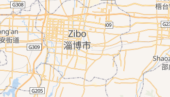 Zibo - szczegółowa mapa Google