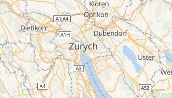 Zurych - szczegółowa mapa Google