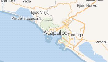 Mapa online de Acapulco para viajantes