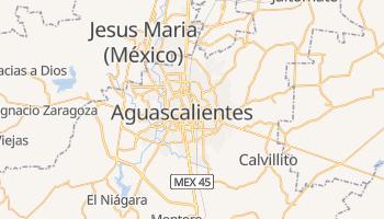 Mapa online de Aguascalientes para viajantes