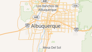 Mapa online de Albuquerque para viajantes