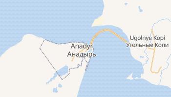 Mapa online de Anadyr para viajantes