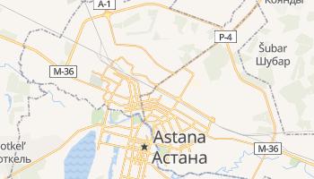 Mapa online de Astana para viajantes