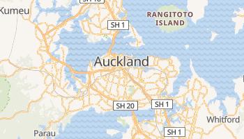 Mapa online de Auckland para viajantes